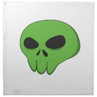 cartoon green skull napkin
