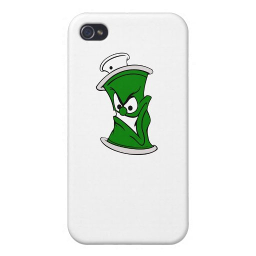 Cartoon Green Spray Paint Can iPhone 4 Cases