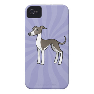 Cartoon Greyhound / Whippet / Italian Greyhound iPhone 4 Case-Mate Cases