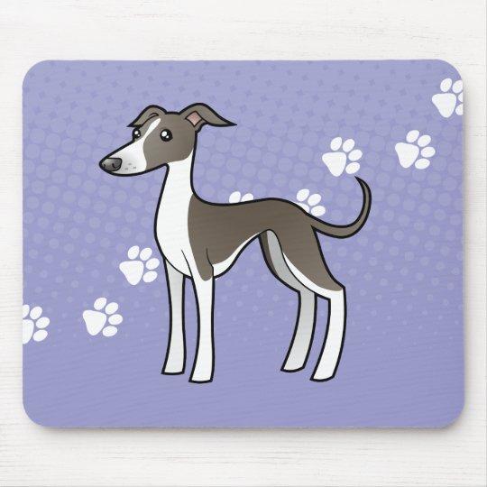 Cartoon Greyhound / Whippet / Italian Greyhound Mouse Pad