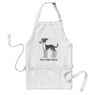 Cartoon Greyhound / Whippet / Italian Greyhound Standard Apron