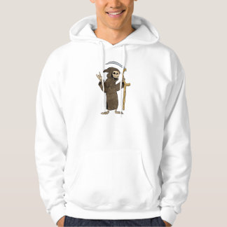cartoon grim reaper. hoodie