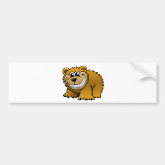 Cartoon Grizzly Bear Bumper Sticker