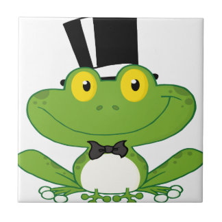 Cartoon Groom Frog Character Tile