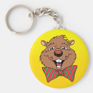 Cartoon Groundhog Key Ring