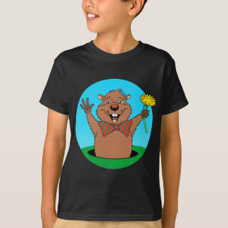 Cartoon Groundhog T-Shirt