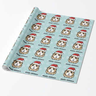 Cartoon Guinea Pig Christmas Wrapping Paper