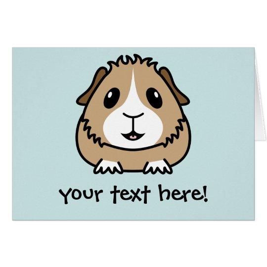 Cartoon Guinea Pig Greetings Card