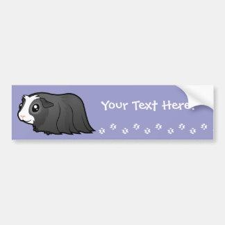 Cartoon Guinea Pig (long hair) Bumper Sticker