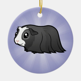 Cartoon Guinea Pig (long hair) Christmas Ornament