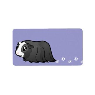Cartoon Guinea Pig (long hair) Label