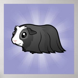 Cartoon Guinea Pig (long hair) Poster