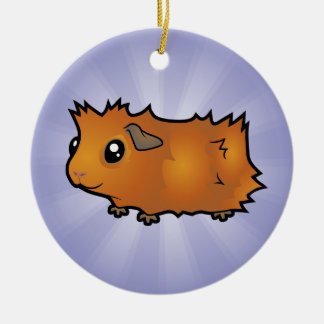 Cartoon Guinea Pig (scruffy) Christmas Ornament