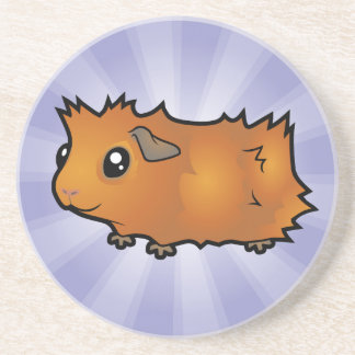 Cartoon Guinea Pig (scruffy) Coaster