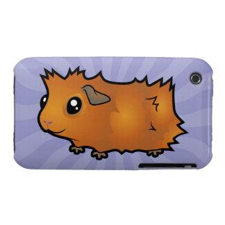 Cartoon Guinea Pig scruffy iPhone 3 Cases