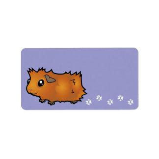 Cartoon Guinea Pig (scruffy) Label