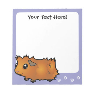 Cartoon Guinea Pig (scruffy) Notepad