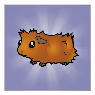 Cartoon Guinea Pig (scruffy) Poster
