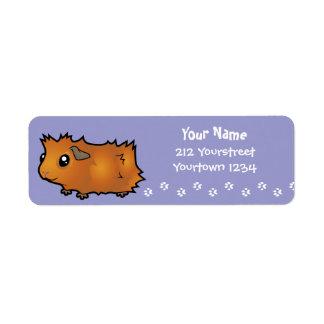 Cartoon Guinea Pig (scruffy) Return Address Label
