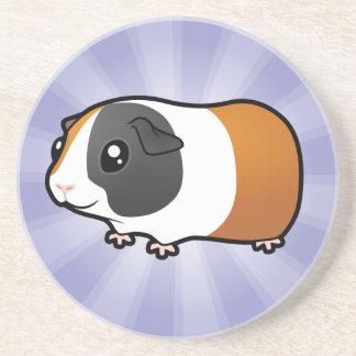 Cartoon Guinea Pig (smooth hair) Coaster