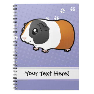 Cartoon Guinea Pig (smooth hair) Notebooks