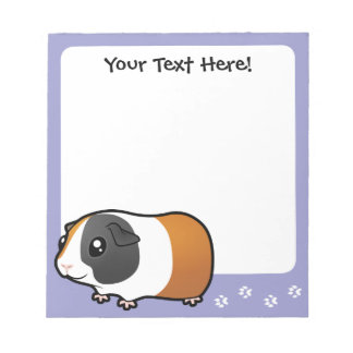 Cartoon Guinea Pig (smooth hair) Notepad