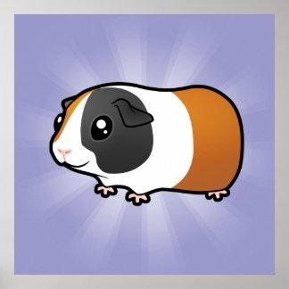 Cartoon Guinea Pig (smooth hair) Poster