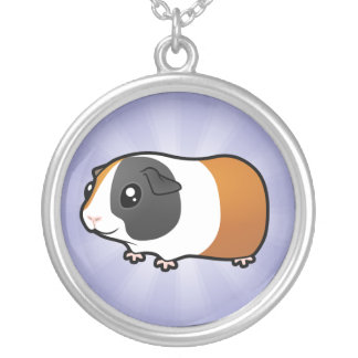 Cartoon Guinea Pig (smooth hair) Silver Plated Necklace