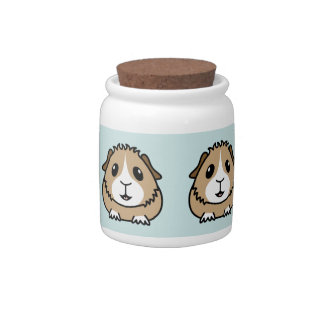 Cartoon Guinea Pig Storage Jar/Cannister Candy Dish