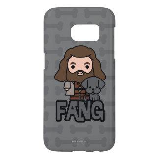 Cartoon Hagrid and Fang Character Art