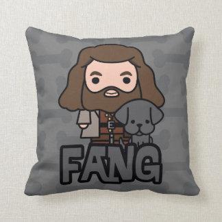 Cartoon Hagrid and Fang Character Art Cushion