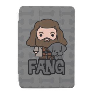 Cartoon Hagrid and Fang Character Art iPad Mini Cover