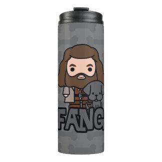 Cartoon Hagrid and Fang Character Art Thermal Tumbler