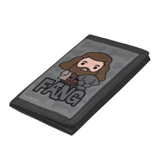 Cartoon Hagrid and Fang Character Art Tri-fold Wallets