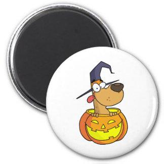 Cartoon Halloween Dog 6 Cm Round Magnet