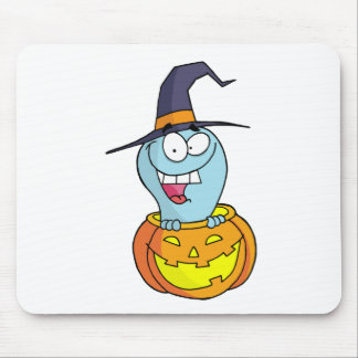Cartoon Halloween Ghost Mouse Pad