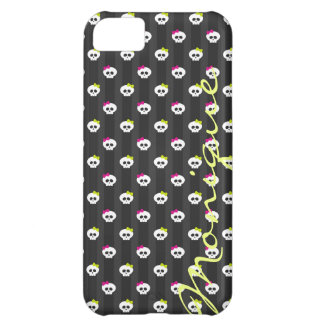 cartoon halloween skulls personalized by name iPhone 5C case