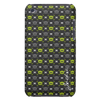 cartoon halloween skulls personalized by name iPod Case-Mate case