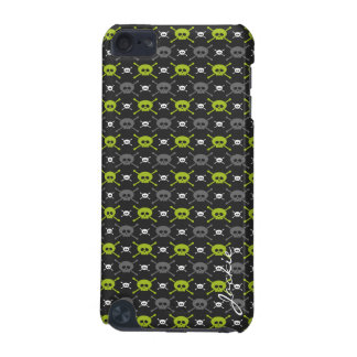 cartoon halloween skulls personalized by name iPod touch (5th generation) cover