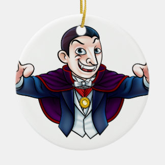 Cartoon Halloween Vampire Christmas Ornament