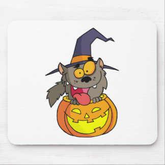 Cartoon Halloween Werewolf Mouse Pad