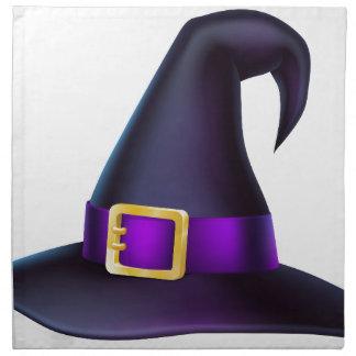 Cartoon Halloween Witch Hat Cloth Napkins