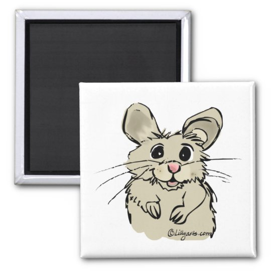 Cartoon Hamster Cute Custom Magnet