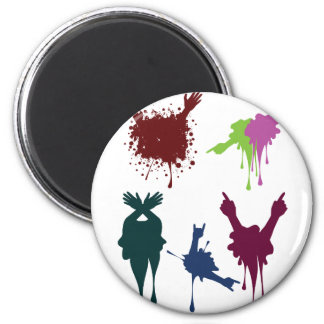 Cartoon Hands with Gestures 3 6 Cm Round Magnet