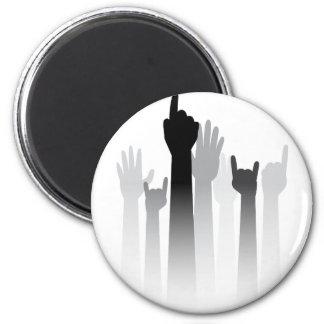 Cartoon Hands with Gestures 5 6 Cm Round Magnet