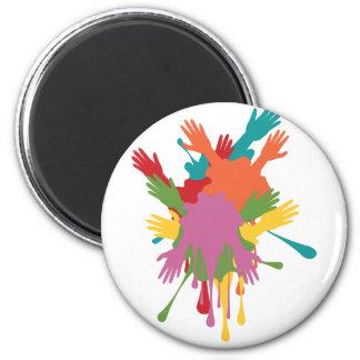 Cartoon Hands with Gestures 6 Cm Round Magnet