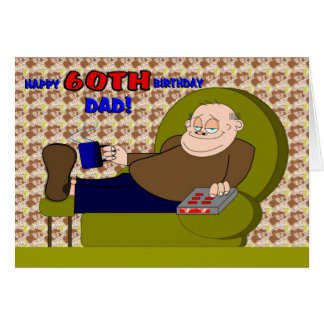 Cartoon Happy Sixtieth Birthday Dad Card