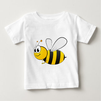 Cartoon Happy Smiling Bee Baby T-Shirt