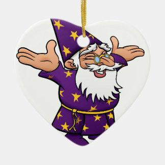 Cartoon Happy Wizard Ceramic Heart Decoration