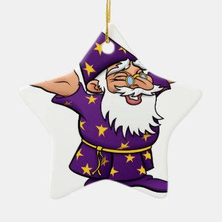 Cartoon Happy Wizard Ceramic Star Decoration